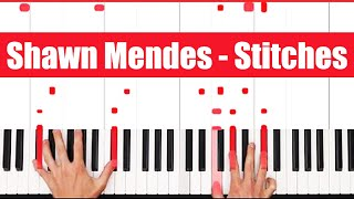 Stitches Shawn Mendes Piano Tutorial - EASY