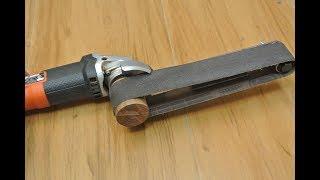 Angle grinder hack 3  (belt sander)