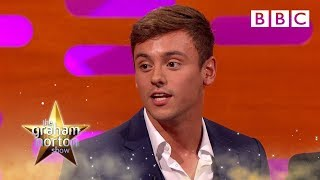 Tom Daley on the benefits of tight swimming trunks – The Graham Norton Show: Series 19 – BBC One