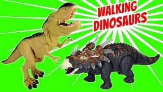Dinosaurs Toy Walking Light and Sound - Dinosaur Toys For Kids │T-rex Spinosaurus Velociraptor