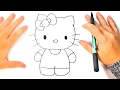 How to draw Hello Kitty   Hello Kitty Easy Draw Tutorial