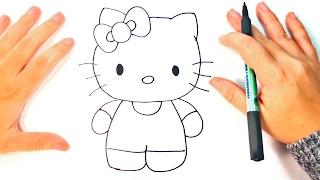 How to draw Hello Kitty | Hello Kitty Easy Draw Tutorial