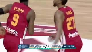 Resumen del UCAM Murcia CB - Pinar Karsiyaka (Leg 2 quarter finals)