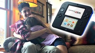 Mom wouldn't get her this for Christmas so big brother did! (SUPER CUTE REACTION)