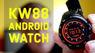 KW88 Bluetooth Smart Watch With Android 5.1 REVIEW - GPS, WiFi, Install Android Apps on your Watch!