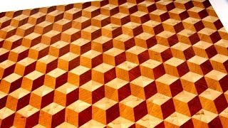 Making a 3D end grain cutting board #2