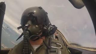 A 4 Skyhawk falcoes do mar visão do cockpit dos pilotos