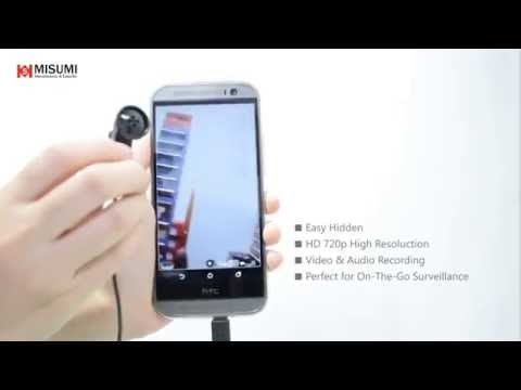 Hidden SPY Button Camera and Screw Camera for Android mobile phone - Spion-Kamera für Handy