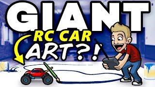 GIANT ART Painted with RC CAR!? - EPIC ART CHALLENGE!!