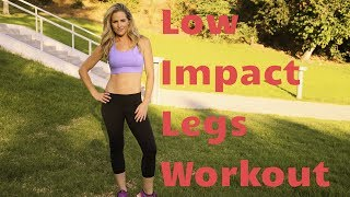 16 Minute Standing Low Impact Legs Workout--No Squats or Lunges!