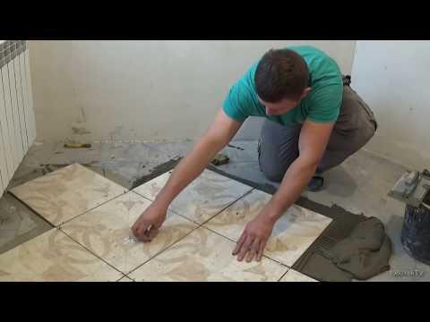 Как положить плитку на пол в ванне своими руками