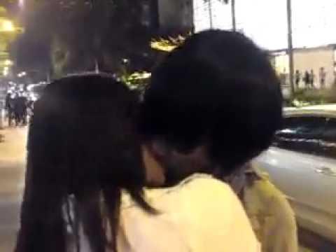 malay couple kissing