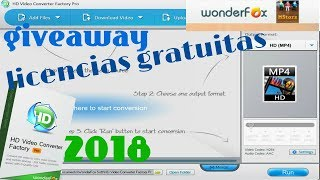 WonderFox HD Video Converter Factory Pro 2018 | Para todos los Windows | LICENCIAS GRATIS DE REGALO