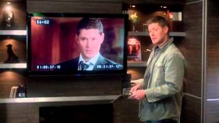 Dean und Sam als Jensen und Jared