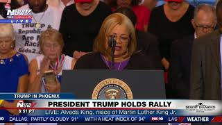 Martin Luther King Jr.'s Niece, Alveda King, Speaks at President Trump Rally in Phoenix