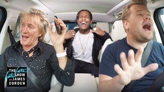 Rod Stewart & A$AP Rocky Carpool Karaoke