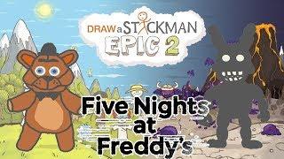 FIVE NIGHTS AT FREDDY'S FNAF Draw a Stickman Epic 2 Gameplay - Freddy Fazbear Save Shadow Bonnie