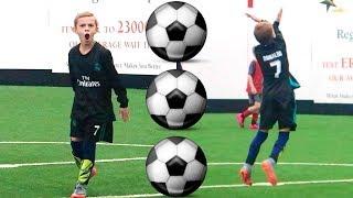 Boy Scores 3 Soccer Goals in 1 Soccer Game! HAT TRICK! ⚽️ ⚽️ ⚽️