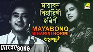 Mayabono Biharini Horini | Lukochuri | Bengali Movie Song | Kishore Kumar, Mala Sinha