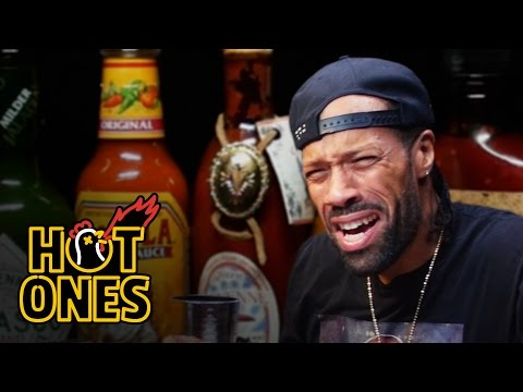 Redman Wilds Out Eating Spicy Wings Hot Ones