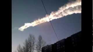 Meteorite Explosion over Russia - collected videos - метеорит над Челябинском