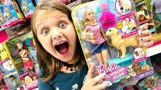 Toy Shopping at Walmart For BARBIE Newborn PUPS Baby Alive Dolls Five Nights at Freddies