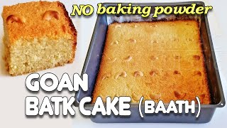 Goan Baath Cake | Batica Recipe | Coconut & Semolina Cake ||*Fatima Fernandes | Goan Festive Sweets