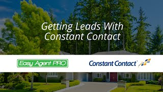 How to use Constant Contact for real estate with your LeadSite