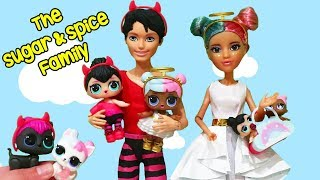 SWTAD LOL Families ! The Sugar & Spice Family House ! Toys and Dolls Kids Pretend Play for Kids