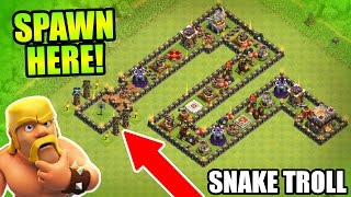 Clash Of Clans - EPIC TROLL BASE