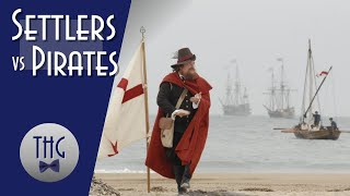 Jamestown Settlers versus Spanish Pirates