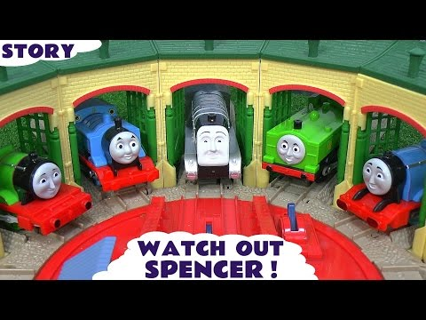 Thomas and Friends Play Doh Story Accident Crash Minions Thomas Watch Out Spencer Play Doh
