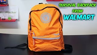 Survival Backpack from Walmart