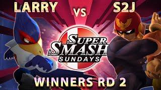 SSS 28 - Larry (Falco) Vs. S2J (Falcon) SSBM Winners Round 2 - Melee