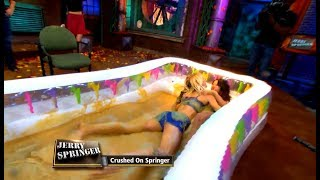 Lesbians Wrestling In Apple Sauce!!!  (The Jerry Springer Show)