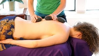 Hot Stone Back Massage Therapy Techniques - How To Use Massage Stones For Relaxation