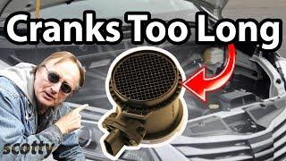 How to Fix a Car that Cranks Too Long (Mass Air Flow Sensor)