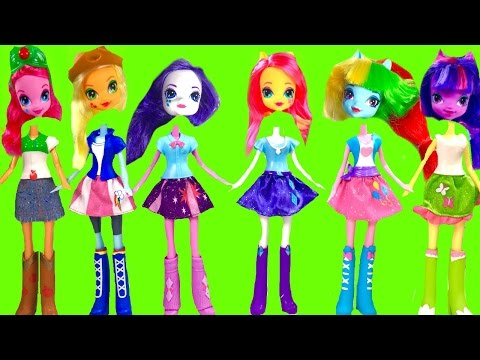 My Little Pony MLP Equestria Girls with Wrong Heads & Toy Surprises | Fizzy Toy Show