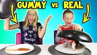 GUMMY vs REAL FOOD 4!!!