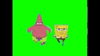 SpongeBob Green Screen: Spongebob and Patrick Running