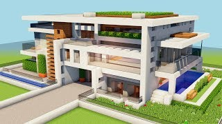 *NEW* MINECRAFT: How To Build A Big Modern House -Tutorial [How To Make A Mansion] [#1]