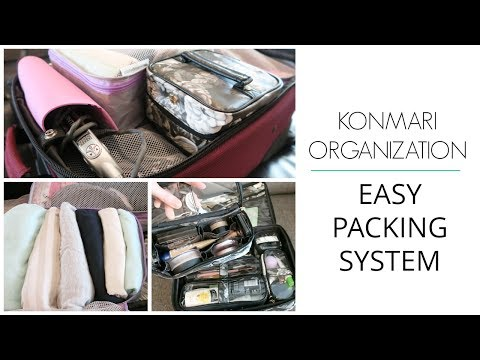 KonMari Organization How to Pack Easy Carry on Travel Packing System