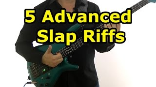 5 Advanced Slap Bass Riffs (L#157)