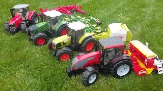 BRUDER FARM TOYS - TRACTORs Class Fendt Valtra Massey Ferguson BWorld News Video