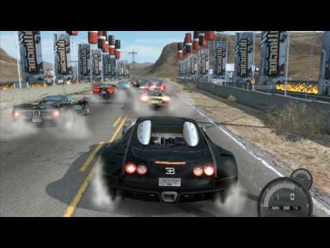 NFS Pro street Bugatti Veyron Nevada speed Run HD