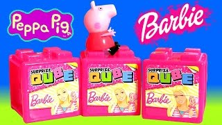 Cube Surprise Barbie Doll and Nickelodeon Peppa Pig Chocolate Easter Egg Surprise