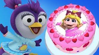 Muppet Babies | Little Miss Piggy & Summer Penguin Disney Junior Cake | Kids Learn Cake Cooking App