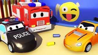 The Car Patrol, Fire Truck, Police Car: The RACING CAR is being accused in Car City ?? ⚡⚡⚡