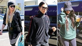 Kim, Khloe And Kourtney Kardashian Hit The Spa In Santa Monica