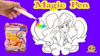 Disney Princess Magic Imagine Ink Rainbow Color Pen Book with Surprise Pictures Cookieswirlc Video